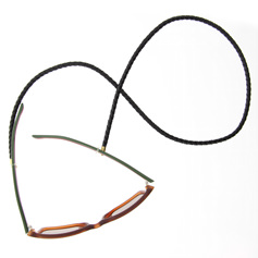 Eyewear string leather - Black