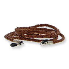 Eyewear string thin leather brown