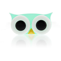 Lens Case Owl Green