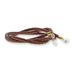Eyewear string leather - Brown