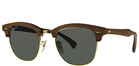 Ray-Ban RB3016M-118158 Clubmaster Wood Polarized