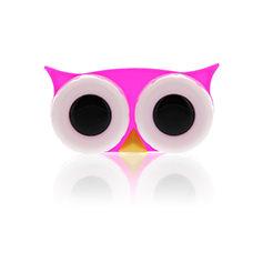 Lens Case Owl Pink