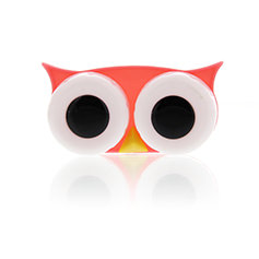 Lens Case Owl Red